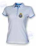Women's 2colour superior fitted polo- ANY SHIP BADGE